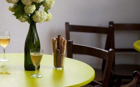 skleničky s vázou